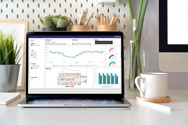 Worksense Heatmap raportista voit seurata tilankäyttöä reaaliajassa.