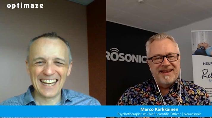 Optimaze's Pontus Kihlman interviews psychotherapist Marco Kärkkäinen about the importance of  finding a balance between stress and recovery at work.