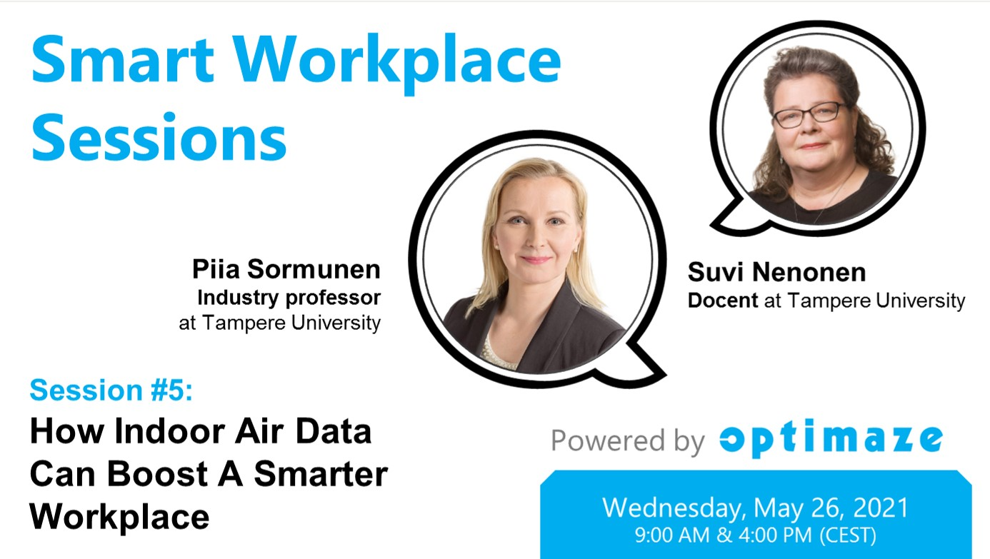 Piia Sormunen Suvi Nenonen Rapal Workplace Solutions Smart Office Optimaze Worksense