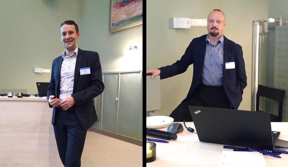 Kuvassa vasemmalta Olli Aalto, Verohallinto ja Petri Ylen, VTT