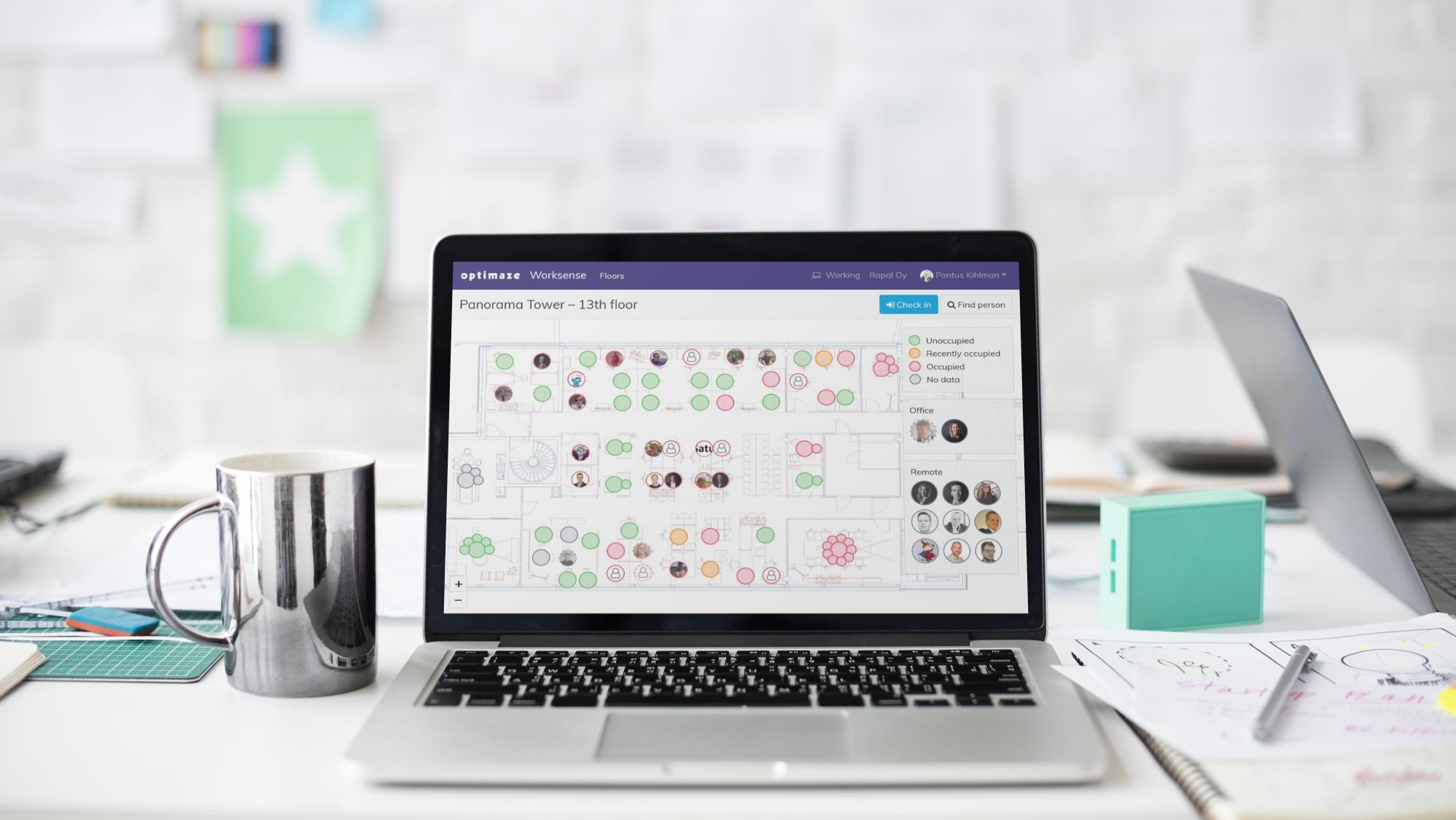 Varaa demo ja näet, kuinka Optimaze Worksense toimii aidossa työympäristössä.