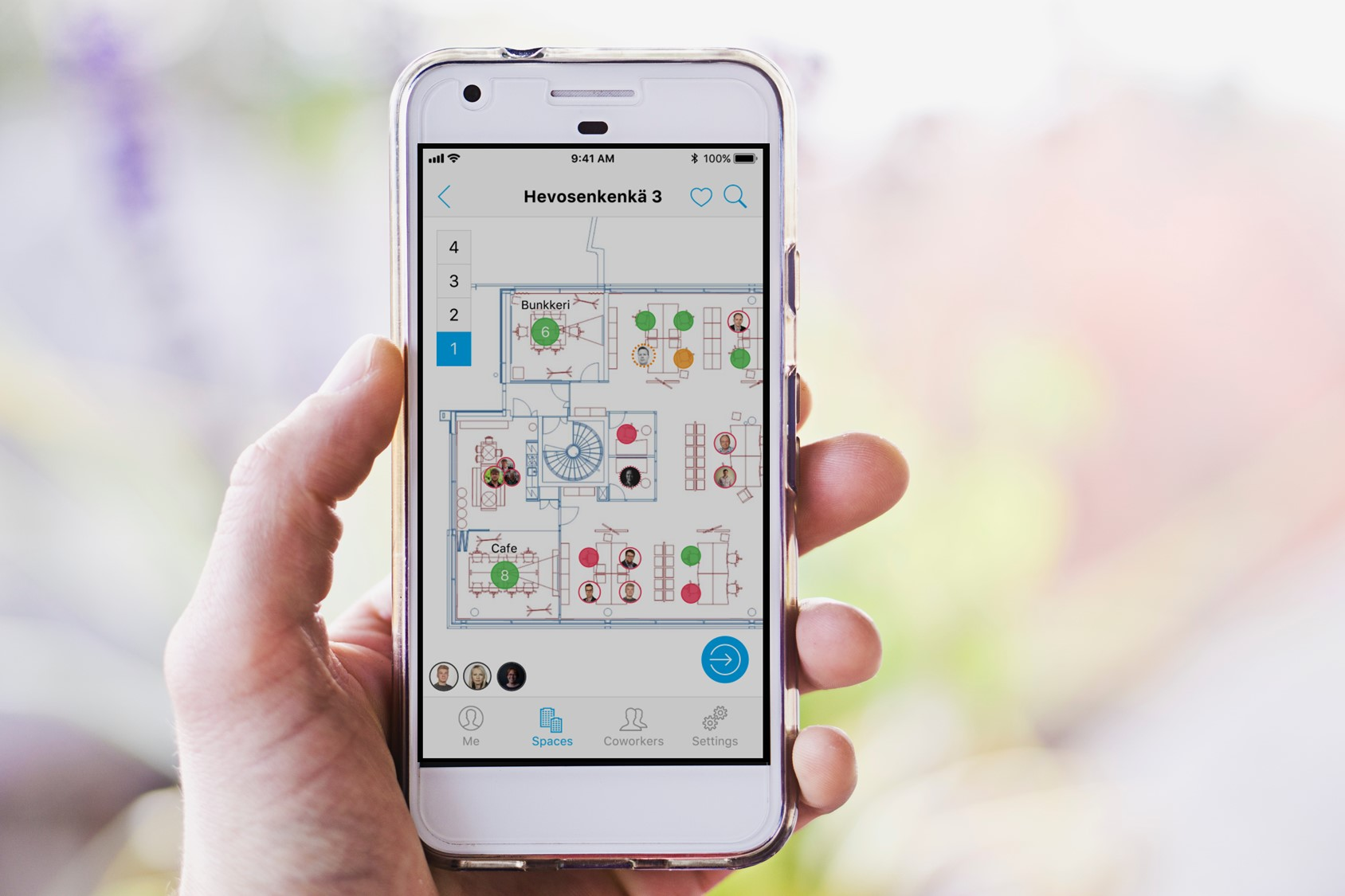The floor plan based interface is easy and intuitive to use.