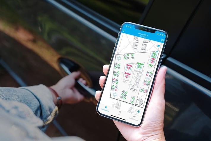 Smart Office -työkalu Optimaze Worksense pohjautuu IoT-sensoriteknologiaan.